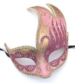 Pink and Gold Mask - Ladies Masquerade Mask | Masks and Tiaras